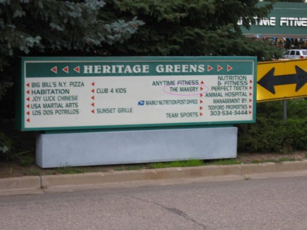 Heritage Greens Shopping Center, home of The Makery Cake Company