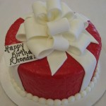 Red package cake