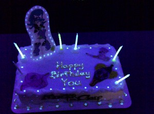 Glow in the Dark Birthday Cake