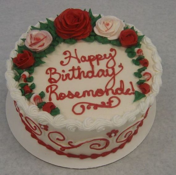 Scrolls and Roses Cake
