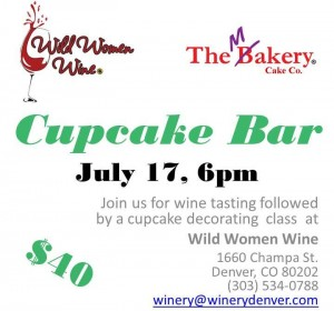 Wine tasting and cupcake decorating class