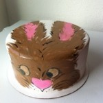 Painted Easter Rabbit Cake Denver