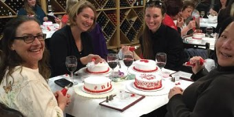 Water to wine cake decorating class