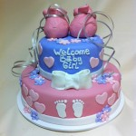 Babby shower cake with booties