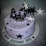 Number and Stars Birthday Cake