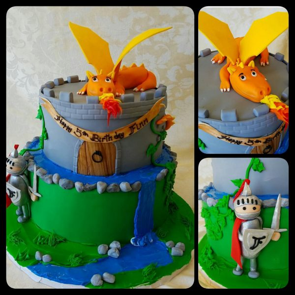 A Dragon Birthday Cake For Your Little Knight The Makery Cake Company