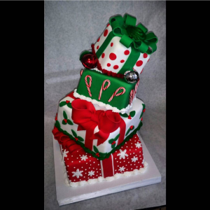 Topsy Turvey Holiday Cake