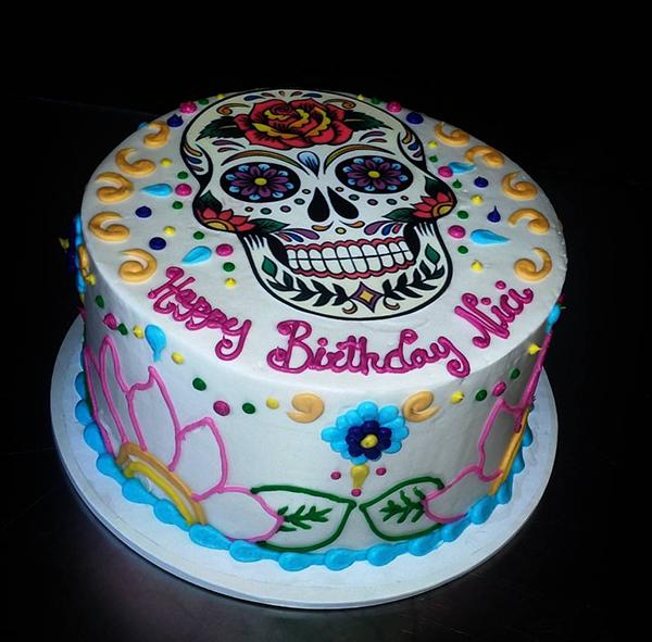 Sugar Sketch Cake Design : Sugar Skull Cakes are Popular and Muy Delicioso! - The ...