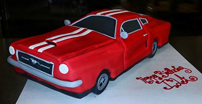 Vintage Mustang Cake
