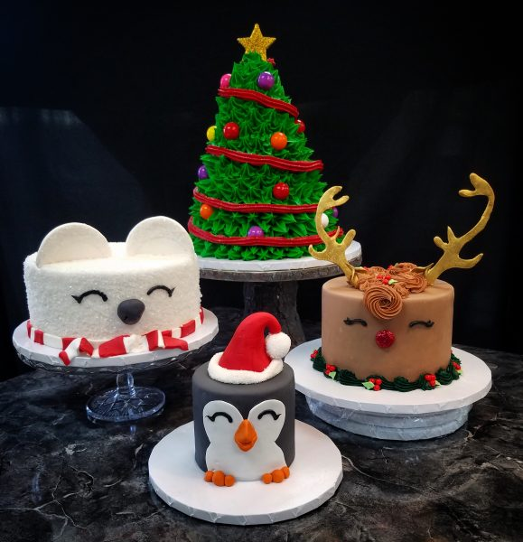 Holiday Animal Face Cakes The Makery Cake Company