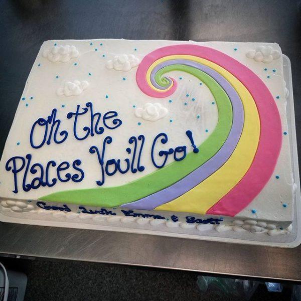 An inspirational graduation cake