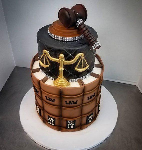School Color And Graduation Cap Cake The Makery Cake Company