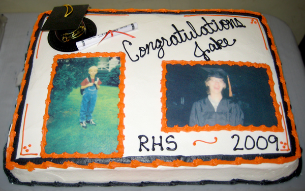 graduation cake with photo