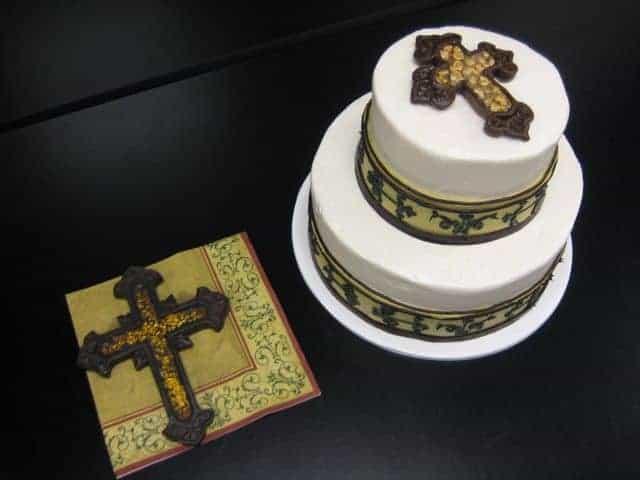 The makery Cake Company Baptism Cake
