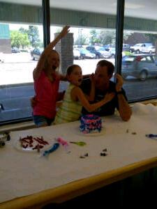 Happy daddy-daughter ninja day!