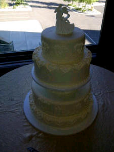 What a gorgeous wedding cake! Thanks Shari and Bob!! and Emily With Particulars Wedding Planning