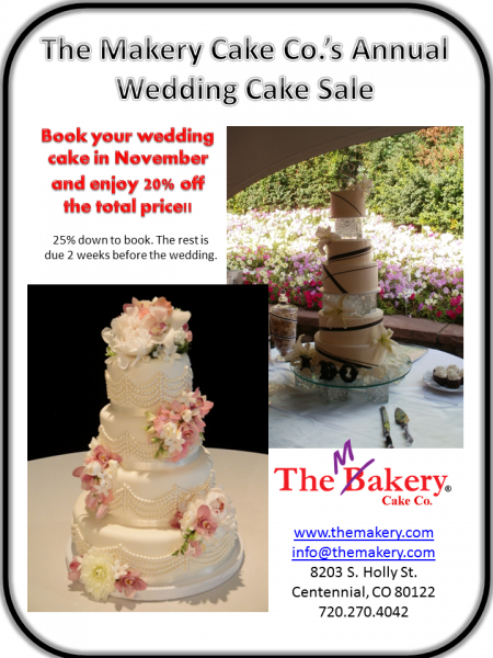 November 2011 Wedding Cake Sale
