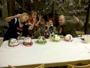 Our latest round of Holiday Cake Ninjas!
