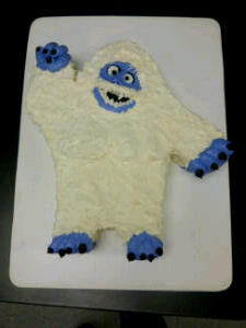 Abominable Snowman Cake