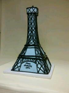 Eiffel Tower Birthday Cake