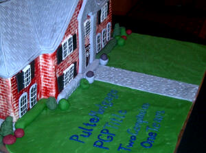 Pulte's brick house cake for their 40th birthday