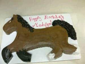 2D Horse Cake