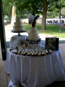 Our cake at The Millennium Harvest House in Boulder