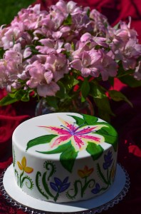 Mother's Day, Mom and kids, Cake Painting Class