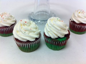Candy Cane Cupcakes, Holiday Desserts