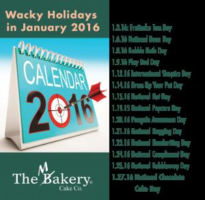 Wacky Holidays Jan 2016