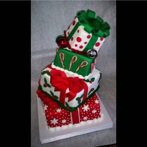 Topsy Turvy Holiday Cake