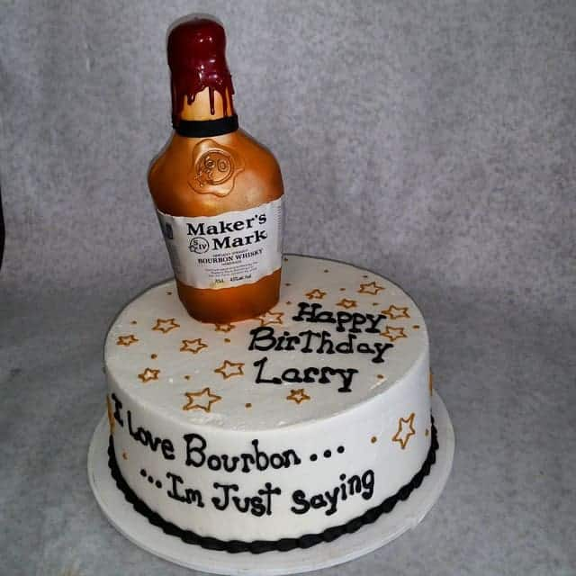 Phenomenal 21St Birthday Cake With Booze Bottle The Makery Cake Co Funny Birthday Cards Online Alyptdamsfinfo