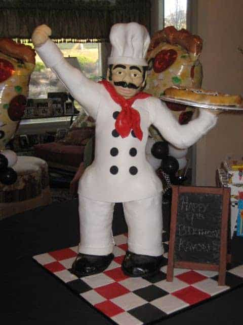 3 Foot Tall Pizza Chef Cake in Denver