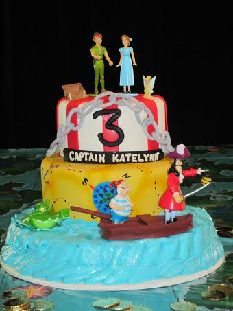 3 Tier Cake with Peter Pan Figurines in Denver