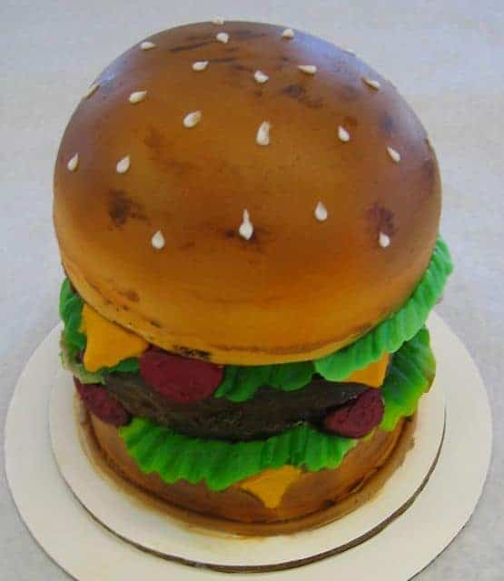 The Makery Cake Company 3D Cheeseburger Cake