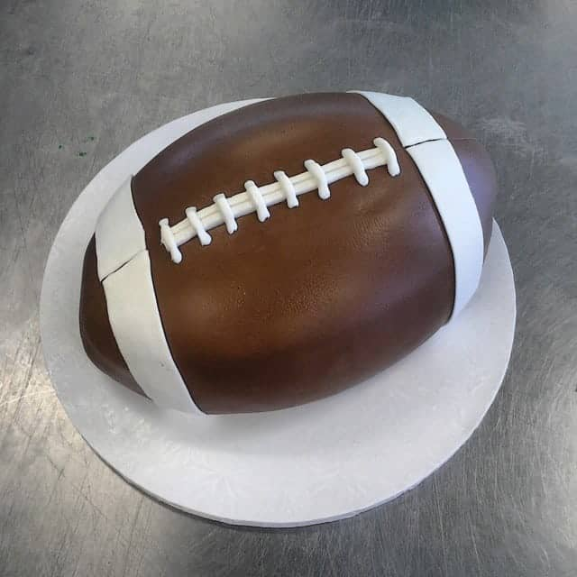 The Makery Cake Company 3D Football Cake