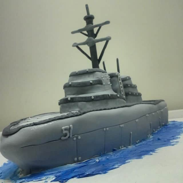 The Makery Cake Company 3D Battle Cruiser Cake