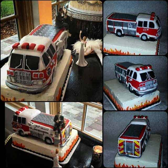 The Makery Cake Company 3D Firetruck Cake