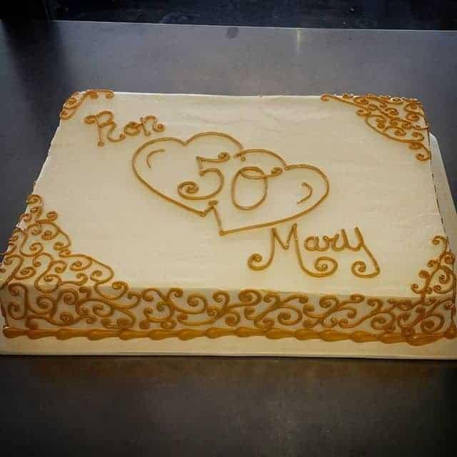 The Makery Cake Company - 50th Anniversary Sheet Cake