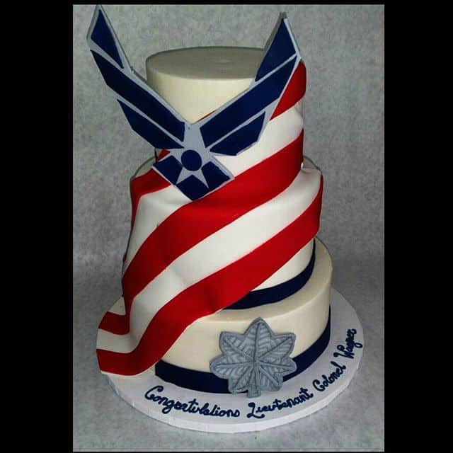 The Makery Cake Company Airforce Tiered Cake