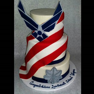 Airforce Tiered Cake