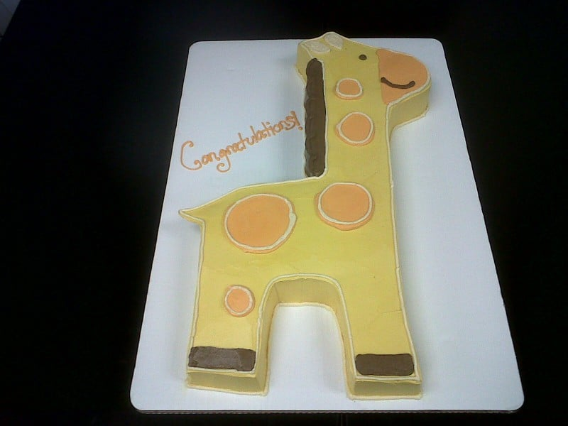 The Makery Cake Company Baby Giraffe 2D Carved Cake