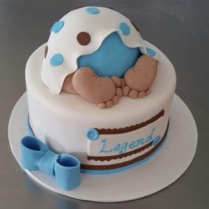 Baby Butt Blue and Brown Baby Butt Cake