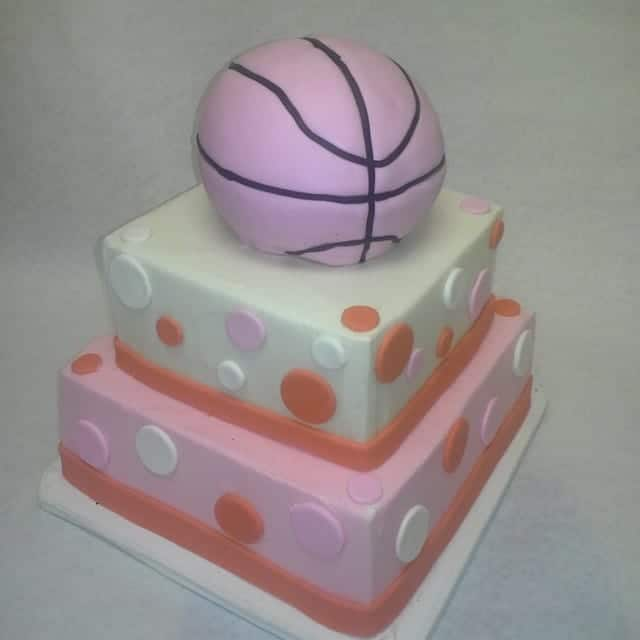 The Makery Cake Company Basketball Cake