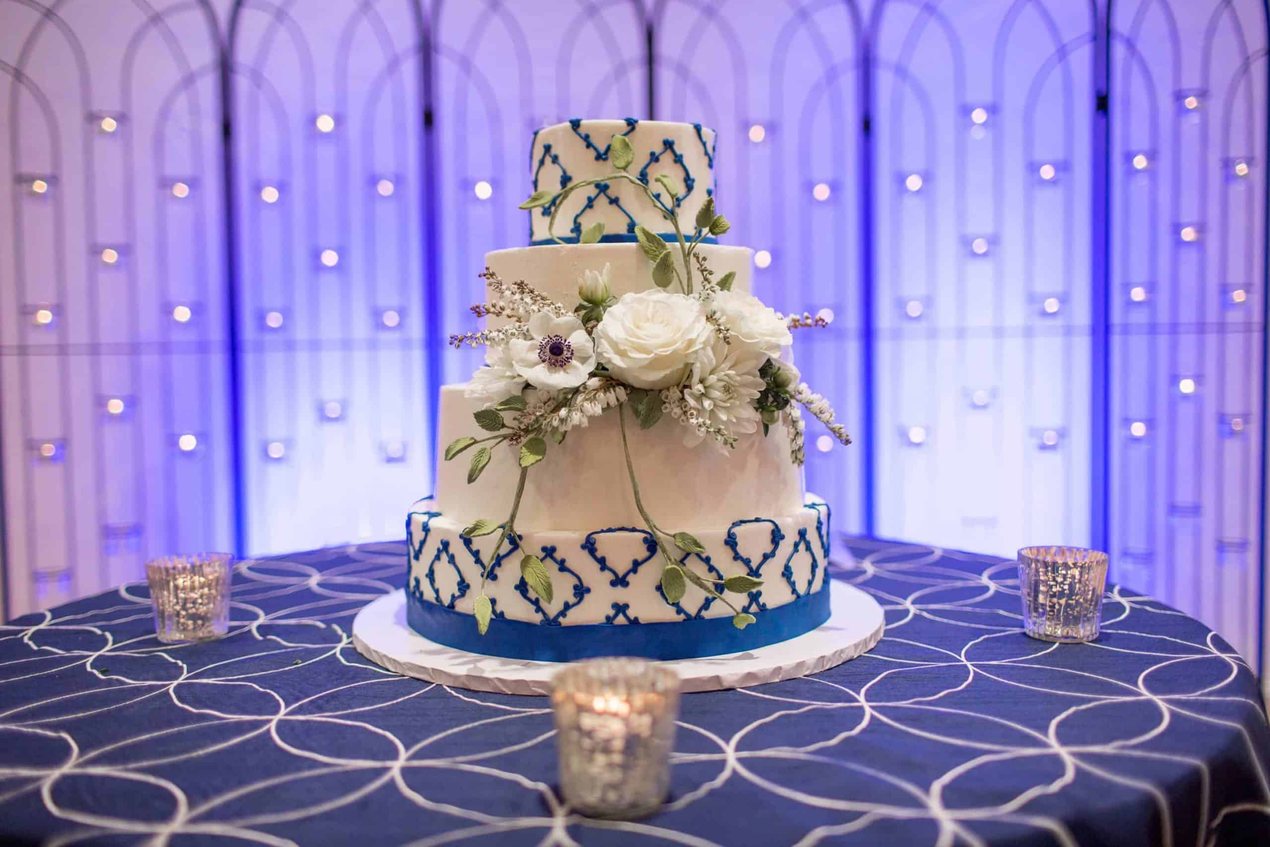 Blue and White Cake Nicole Marie Photography