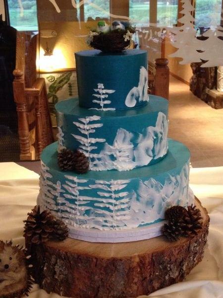 Blue Woods Cake