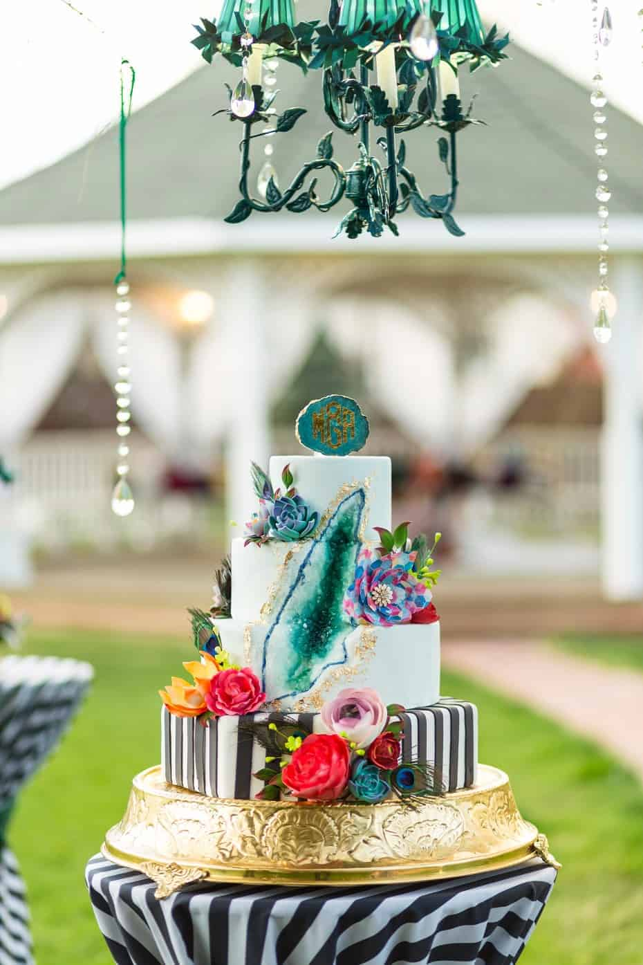 The Makery Cake Company Bohemian Themed Geode Cake