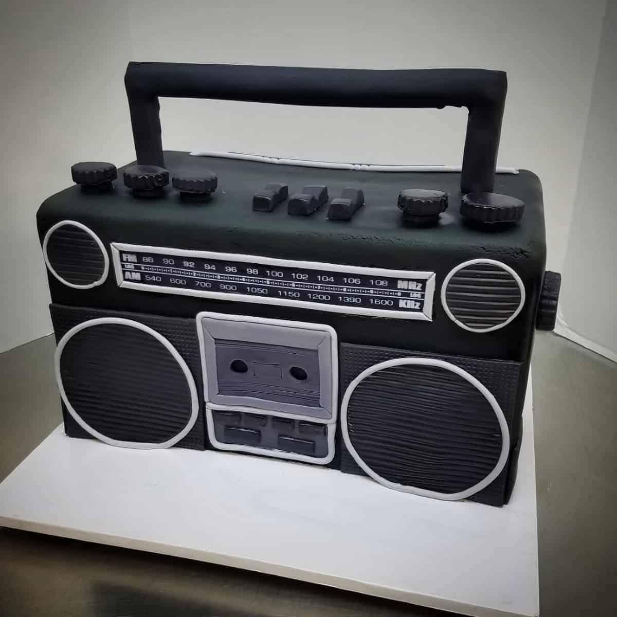 The Makery Cake Company Boom Box Cake