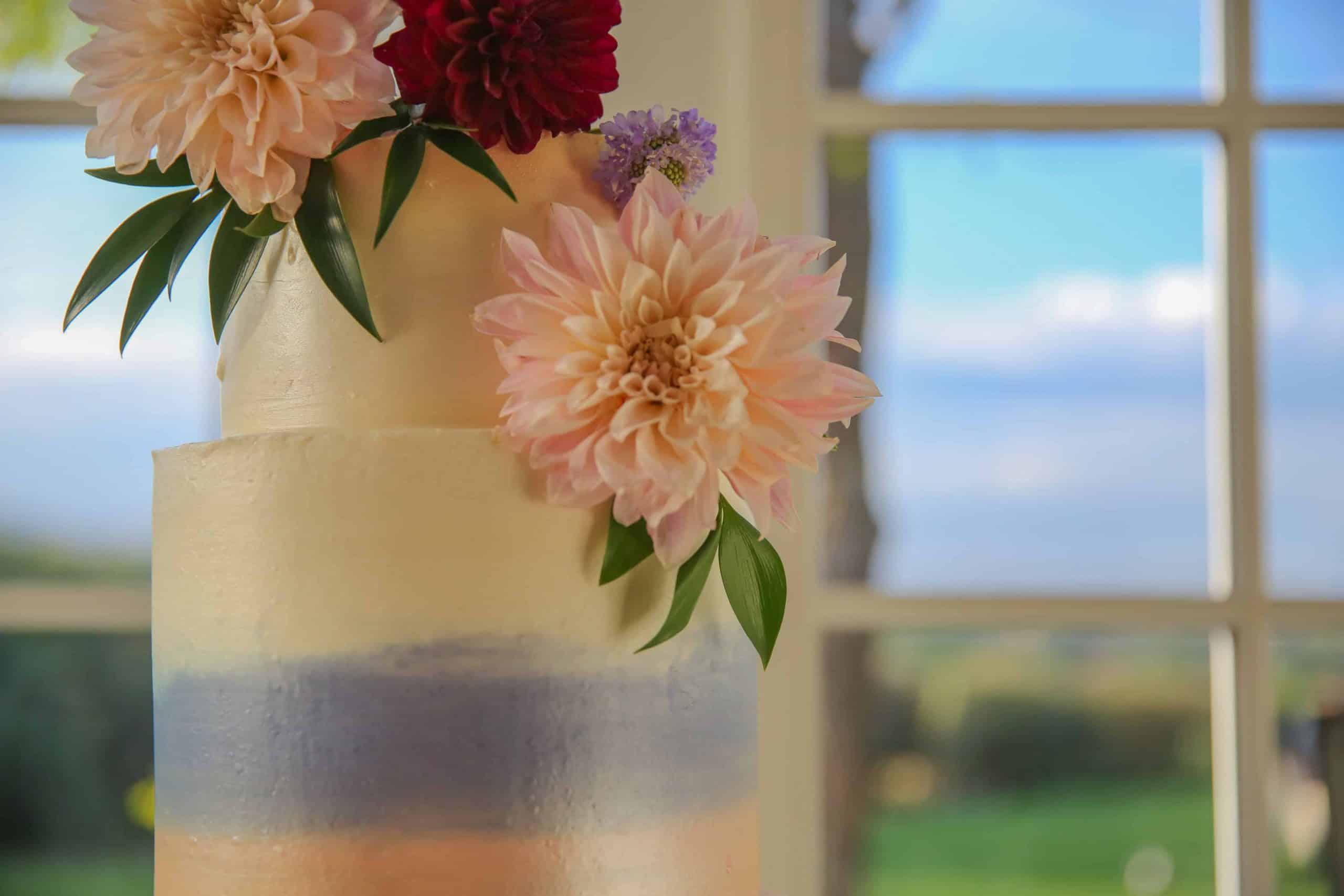 The Makery Cake Company Plain Cake with Flowers