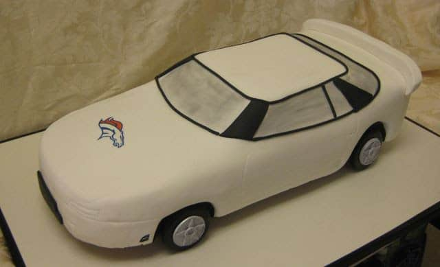 The Makery Cake Company Car Grooms Cake